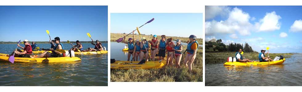 kayak para singles Ruta Islas en Kayak (Algarve)