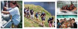 Familias monoparentales de singles con niños en los Pirineos