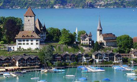 Paisajes de Suiza y Alemania con Lagos de Italia