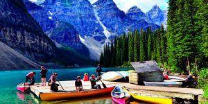 Canadá Lago Moraine