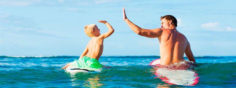Surf padre e hijo Singles con Niños