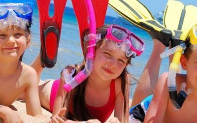 niños buceo 400x250 Vacaciones Singles