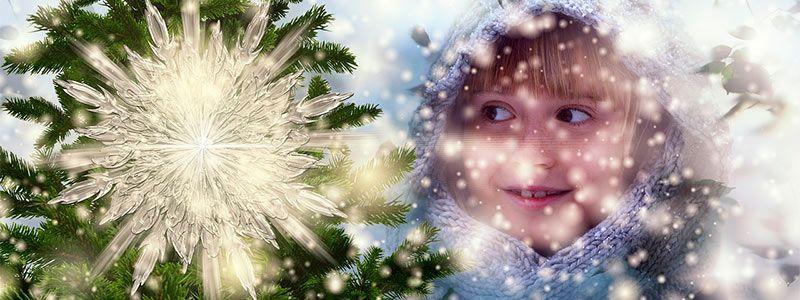 Niña estrella fin de año