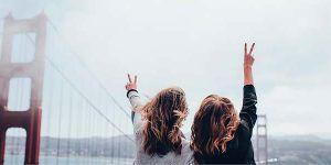 Chicas en el Golden Gate