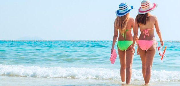 Chicas en la Playa 627x300 Singles con Niños
